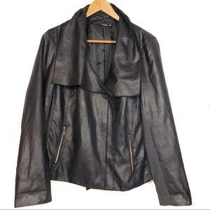 a.n.a Faux Suede Black Motorcycle Jacket